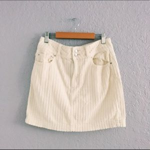 Urban Outfitters BDG White Corduroy Skirt